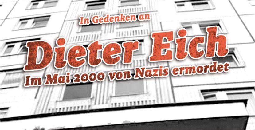 Niemand ist vergessen! – Aufruf zur Dieter Eich-Gedenkdemo 2018